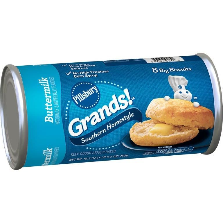 Pillsbury Grands! Southern Homestyle Buttermilk Biscuits, 8 ct, 16.3 oz