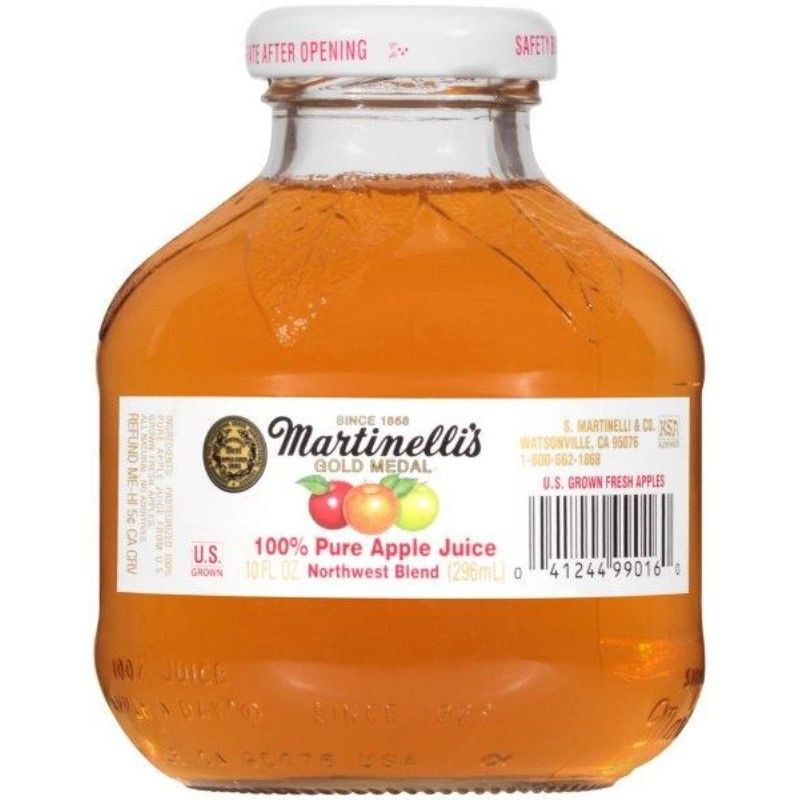 Martinelli's Gold Medal 100% Pure Apple Juice, 10 oz