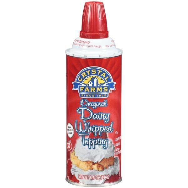 Crystal Farms Original Dairy Whipped Topping, 6.5 oz.