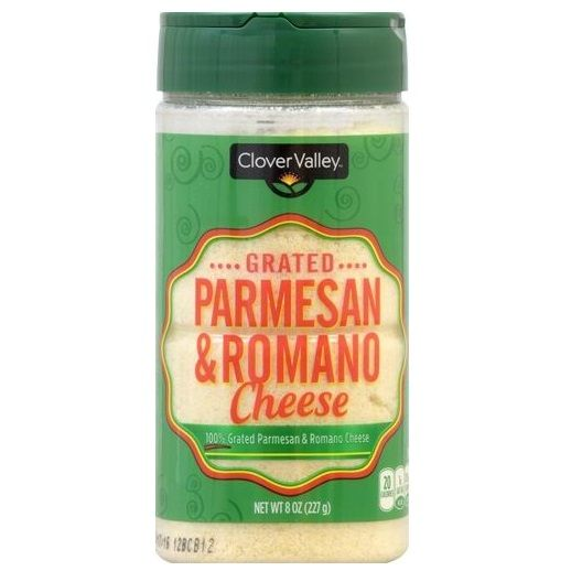 Clover Valley Parmesan & Romano Grated Cheese, 8 oz