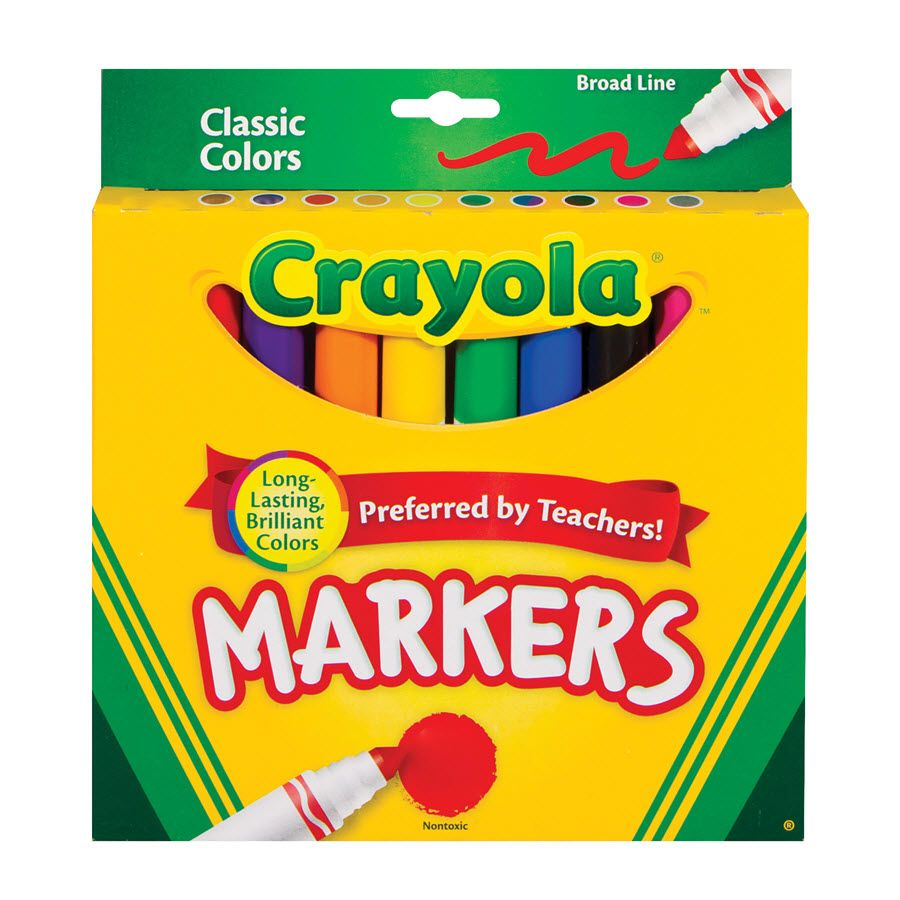 Crayola Classic Markers- 10 pack