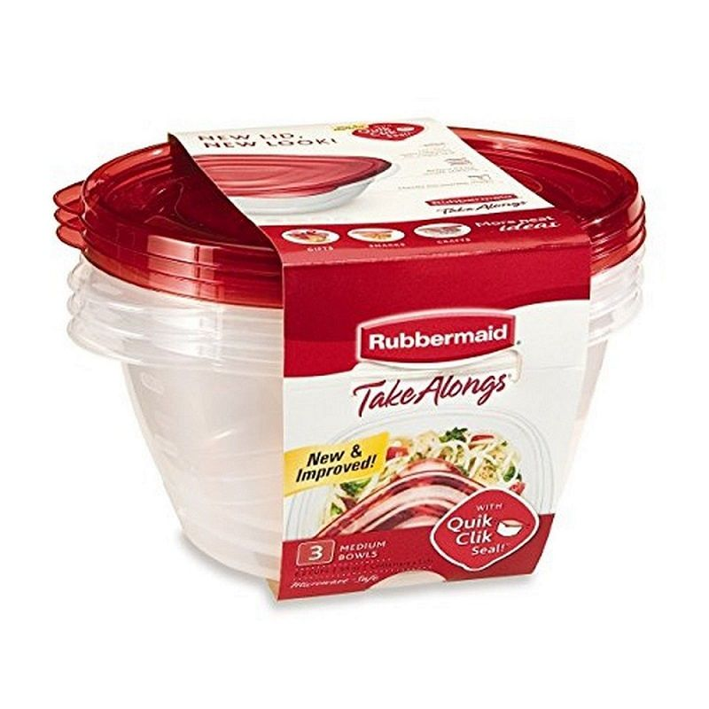 Rubbermaid TakeAlongs Medium Bowls, 3 ct