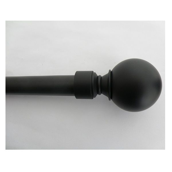 trueliving 1in Diameter Ball Finial Curtain Rod 30in-84in