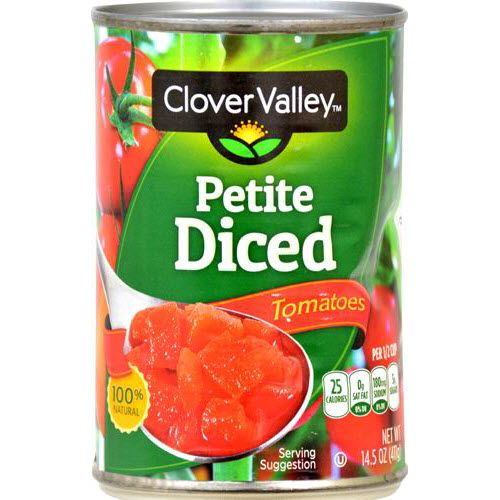 Clover Valley Tomatoes Petite Diced, 14.5 Oz.