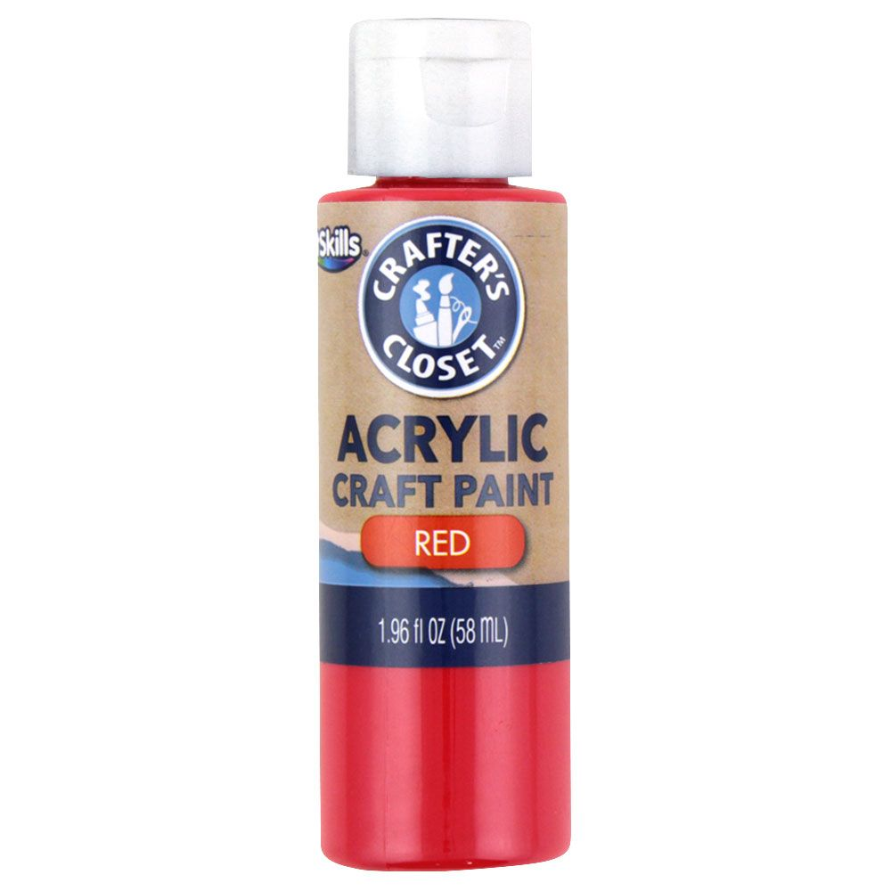 ArtSkills Crafters Closet Acrylic Paint Red/White, 1 ct, 1.96 oz - Assorted