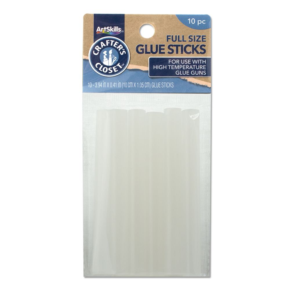 ArtSkills Crafters Closet Hot Glue Sticks, 10ct