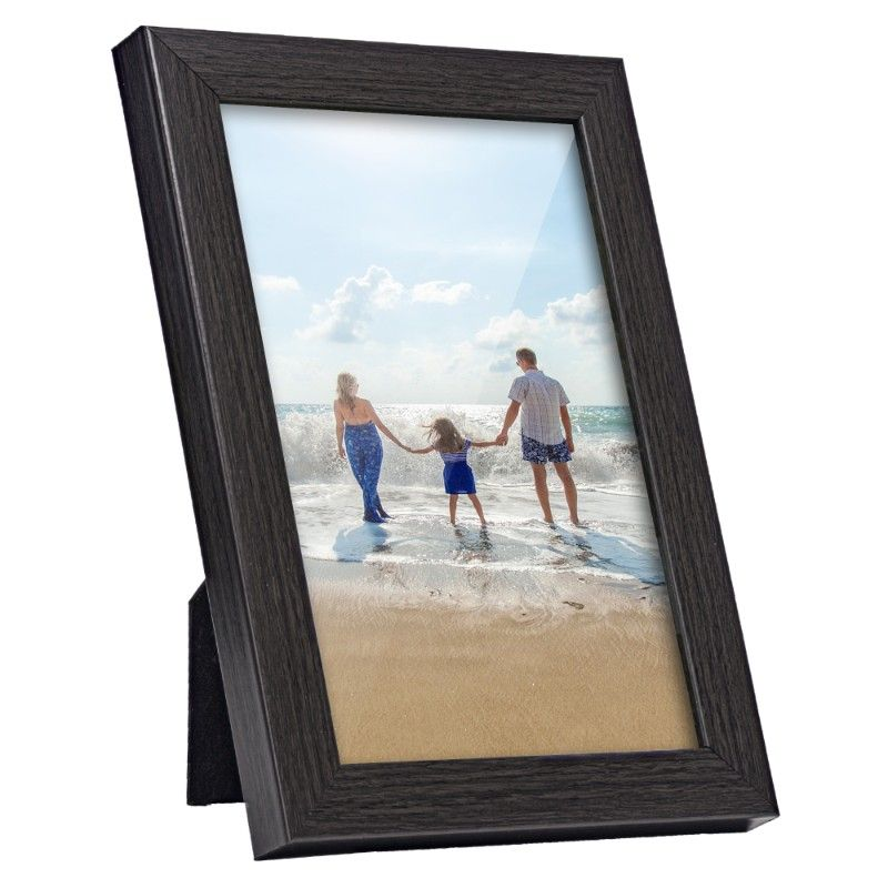 Wooden Picture Frame, Black, 4in x 6in