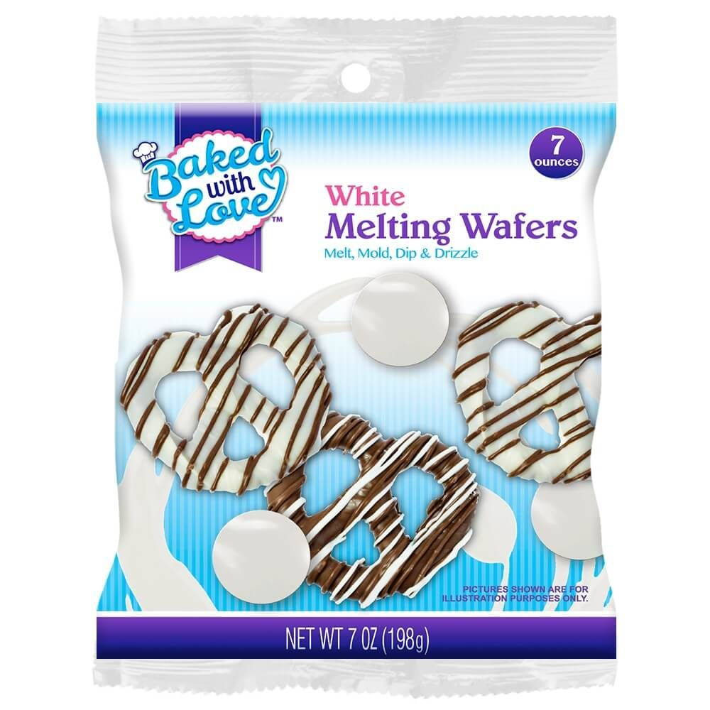 Baked with Love Melting Wafers, White Chocolate