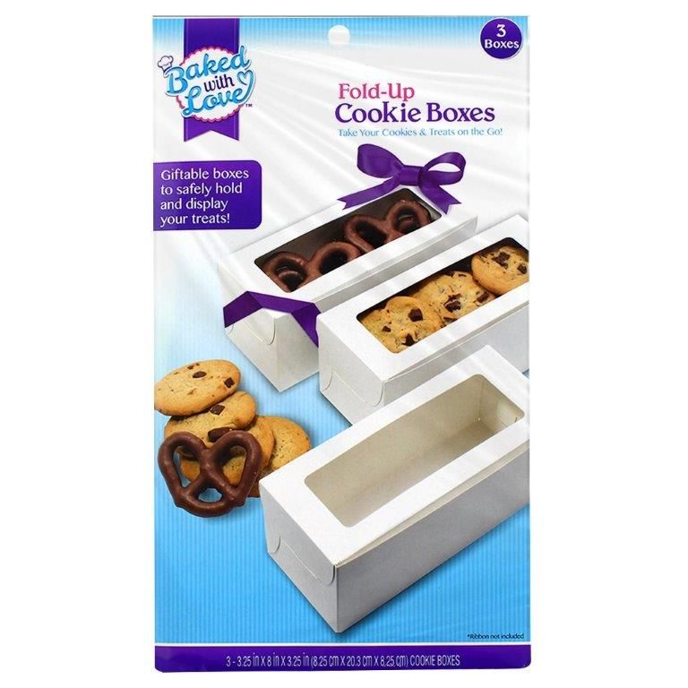 Baked with Love Cookie Boxes, 3 ct
