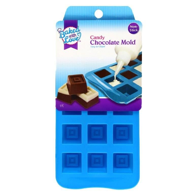 Baked with Love Candy Chocolate Mold, Square