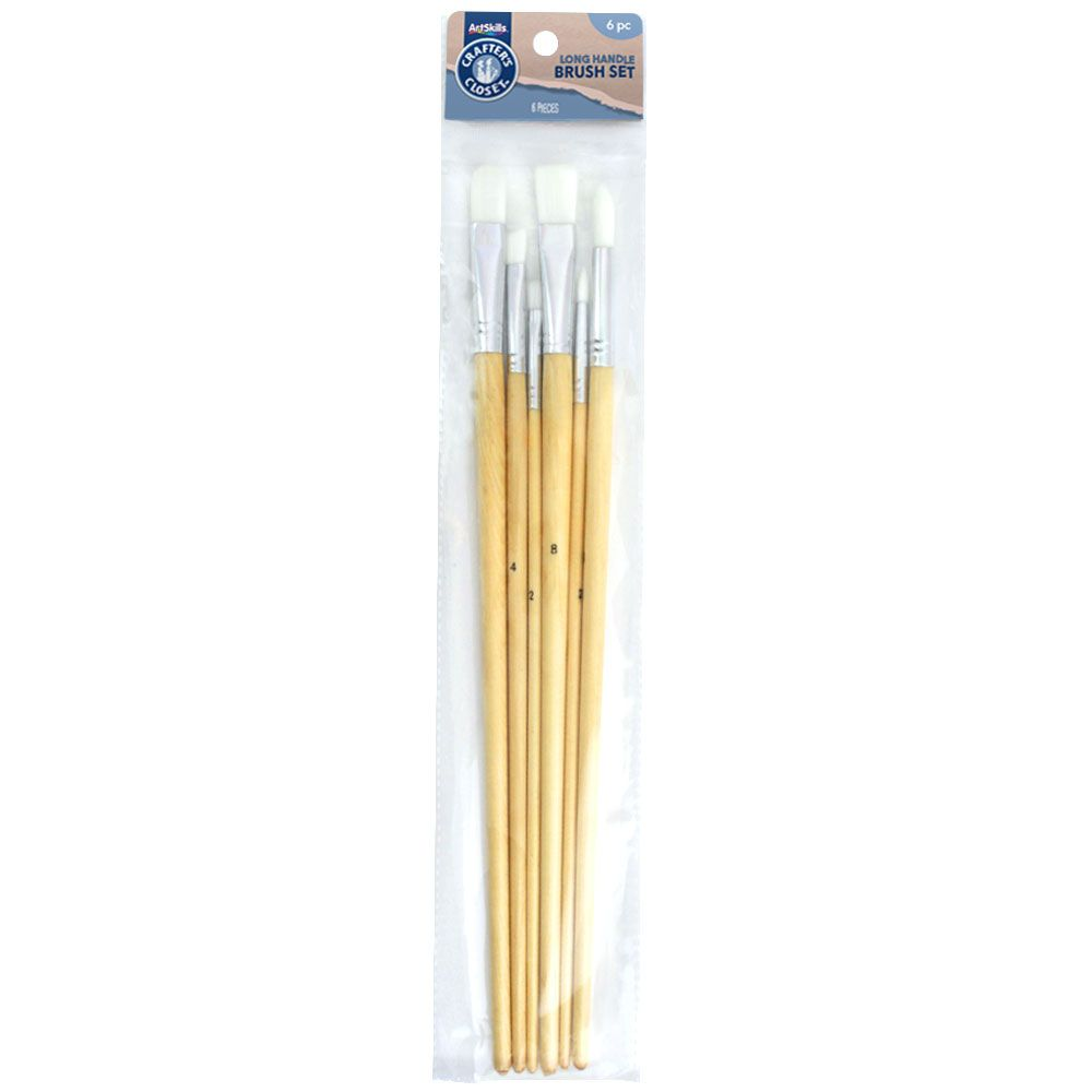 ArtSkills Crafters Closet Long Handle Brushes