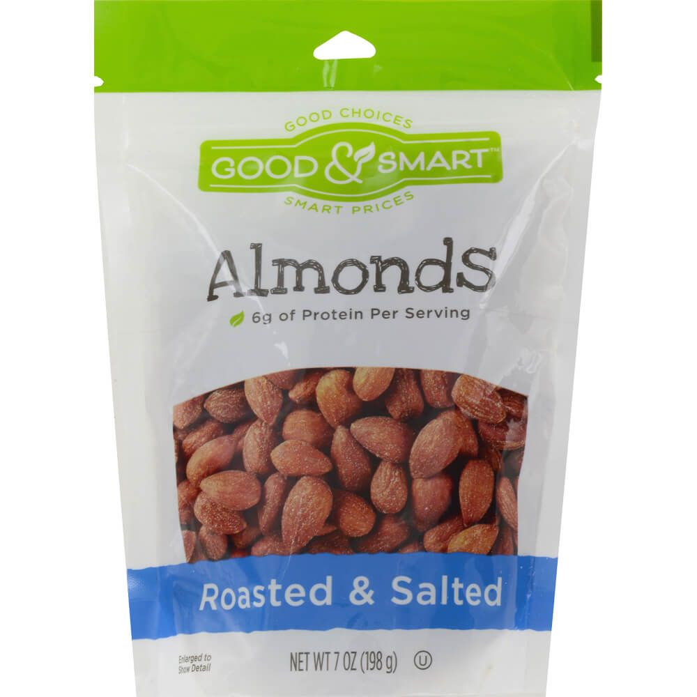 Good & Smart Roasted & Salted Almonds, 7 Oz.