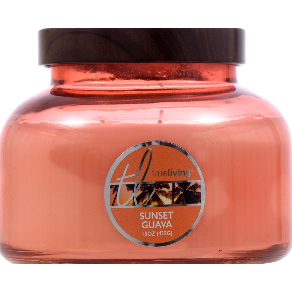 Trueliving Sunset Guava Candle, 15oz
