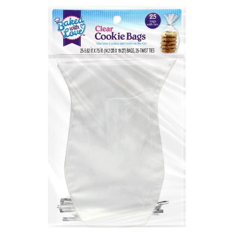 Baked with Love Clear Treat Bags, 25 ct