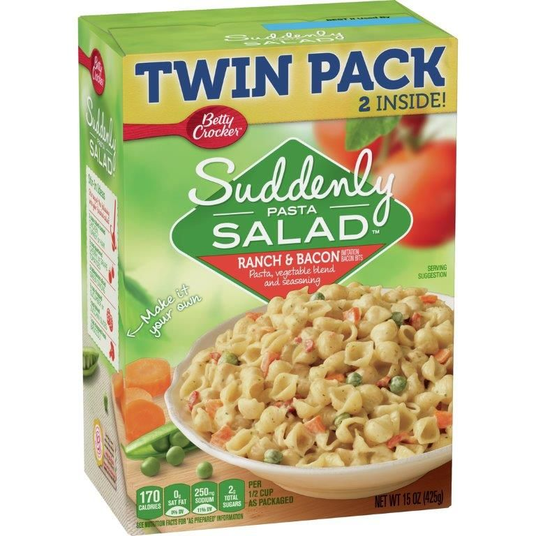 Betty Crocker Suddenly Salad Ranch and Bacon Twin Pack