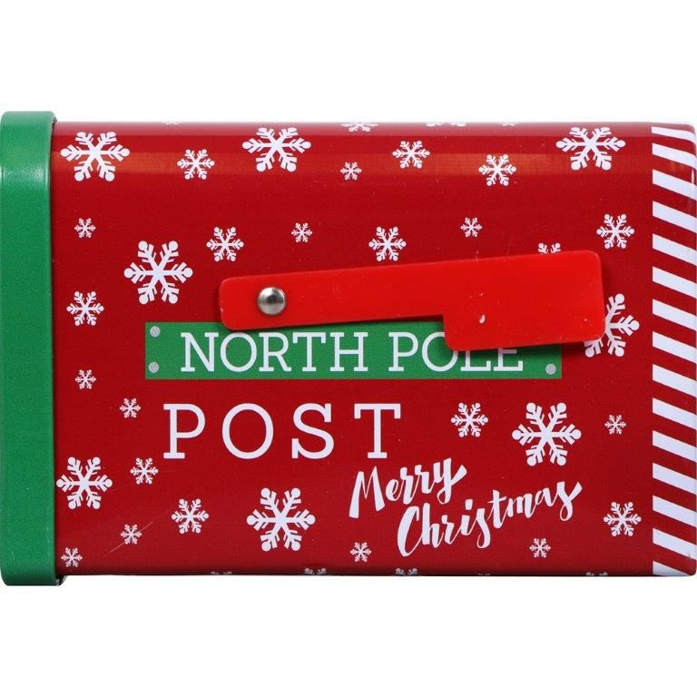 Holiday Style Mini Mailbox Tin - Assorted