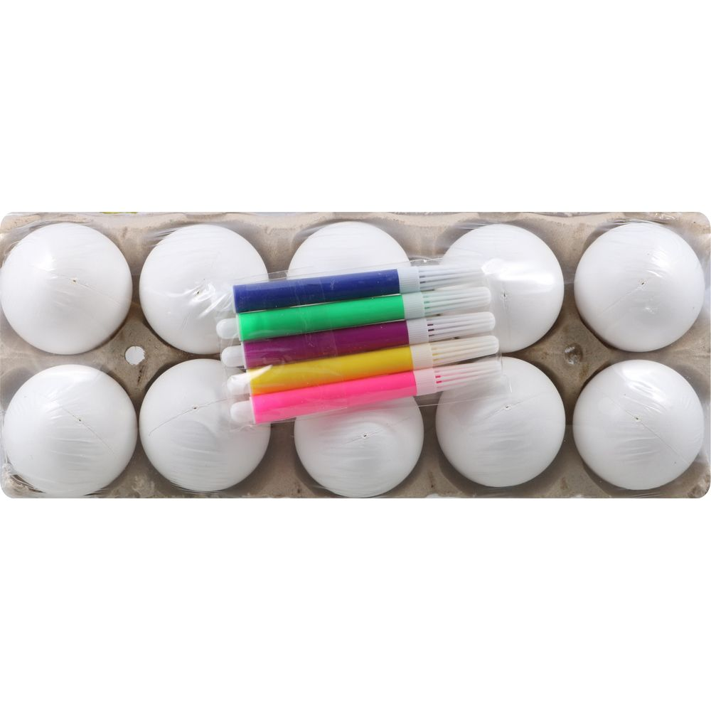 Happy Easter Crafting Eggs & Markers, 10 pack