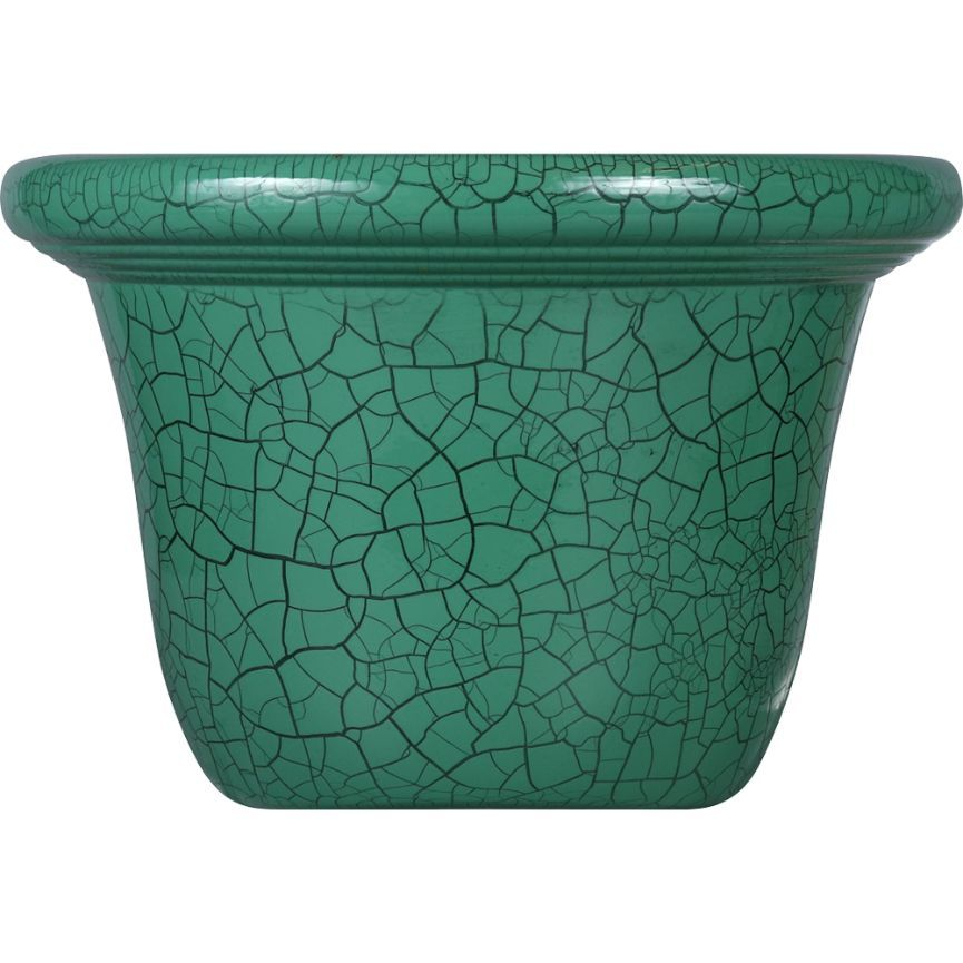 True Living Outdoors Painted Medium Planter Cracked - Assorted, 1 ct