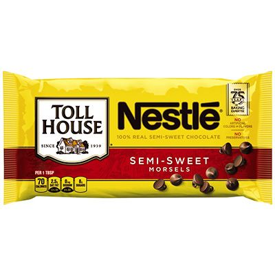 NESTLE TOLL HOUSE Semi-Sweet Chocolate Chip Morsels 12 oz. Bag