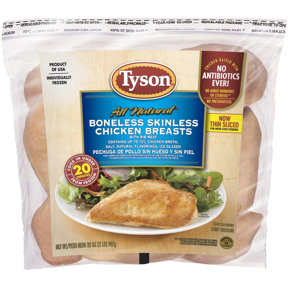 Tyson Boneless Skinless Chicken Breast, 32 oz