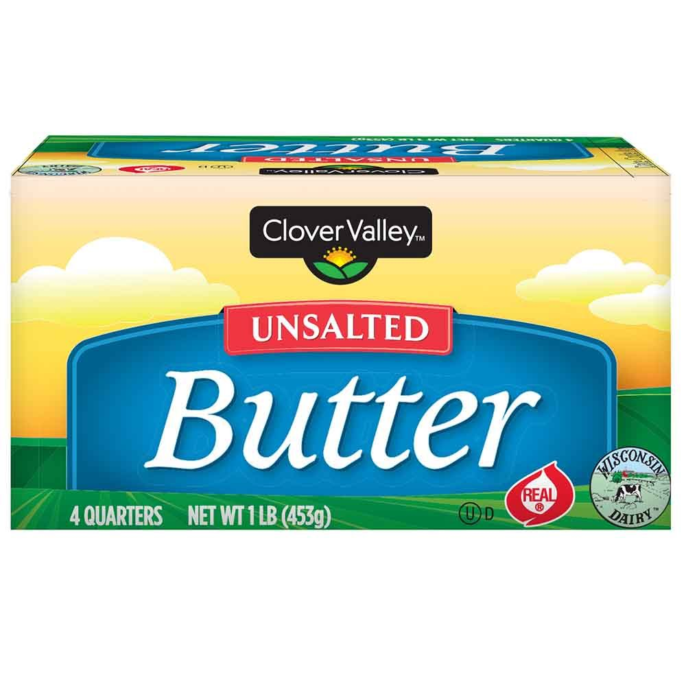 Clover Valley Unsalted Butter 16 Oz.