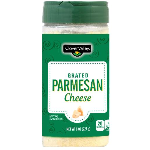 Clover Valley Grated Parmesan Cheese, 8 oz