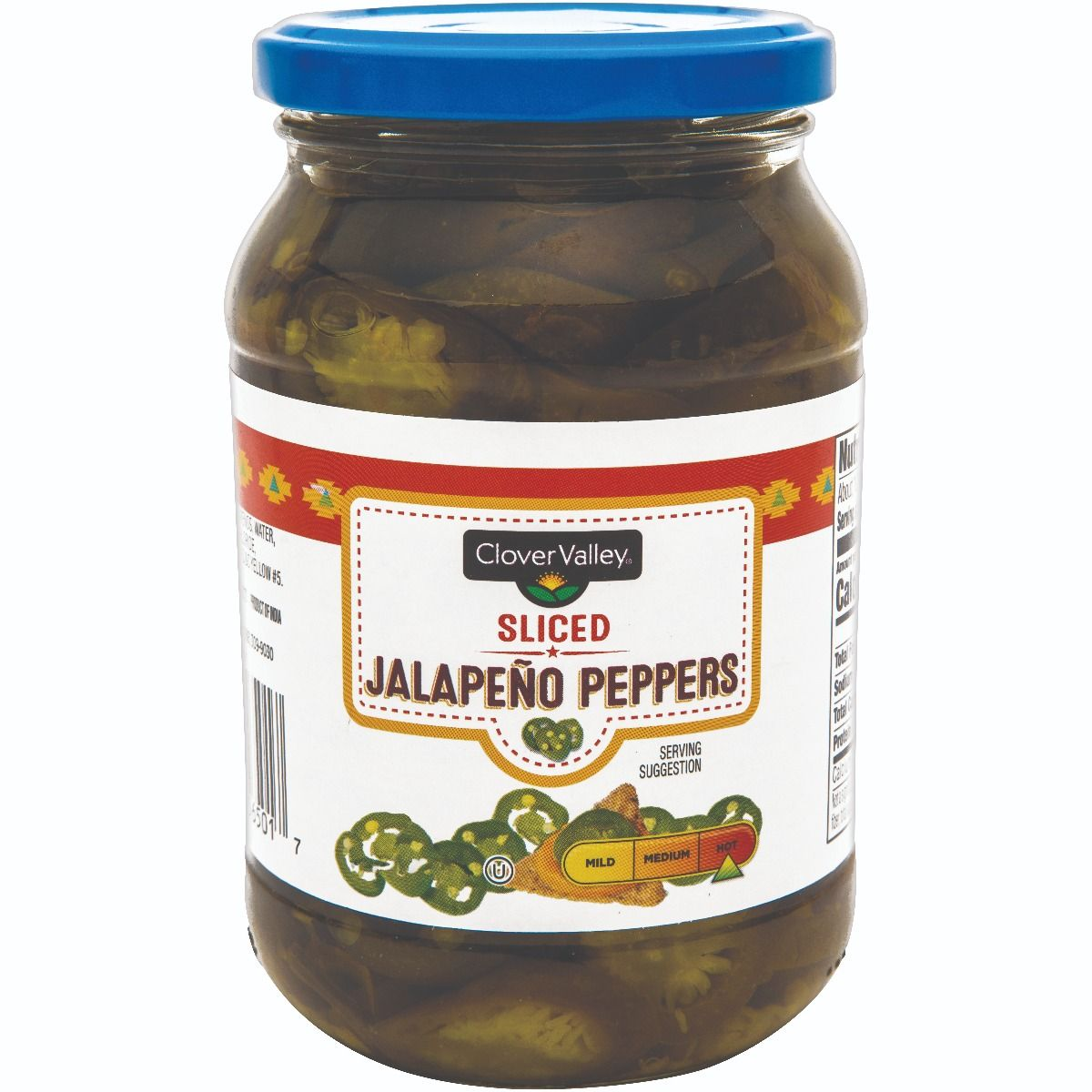 Clover Valley Jalapeno Slices, 16 oz
