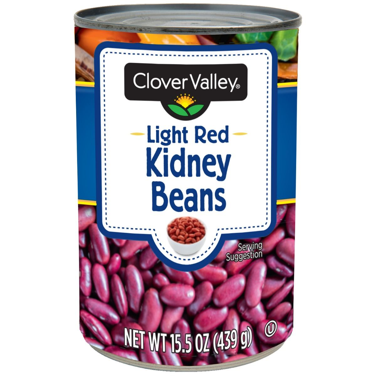Clover Valley Light Red Kidney Beans, 15.5 Oz.