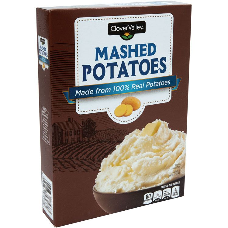 Clover Valley Instant Mashed Potatoes, 9 Oz.