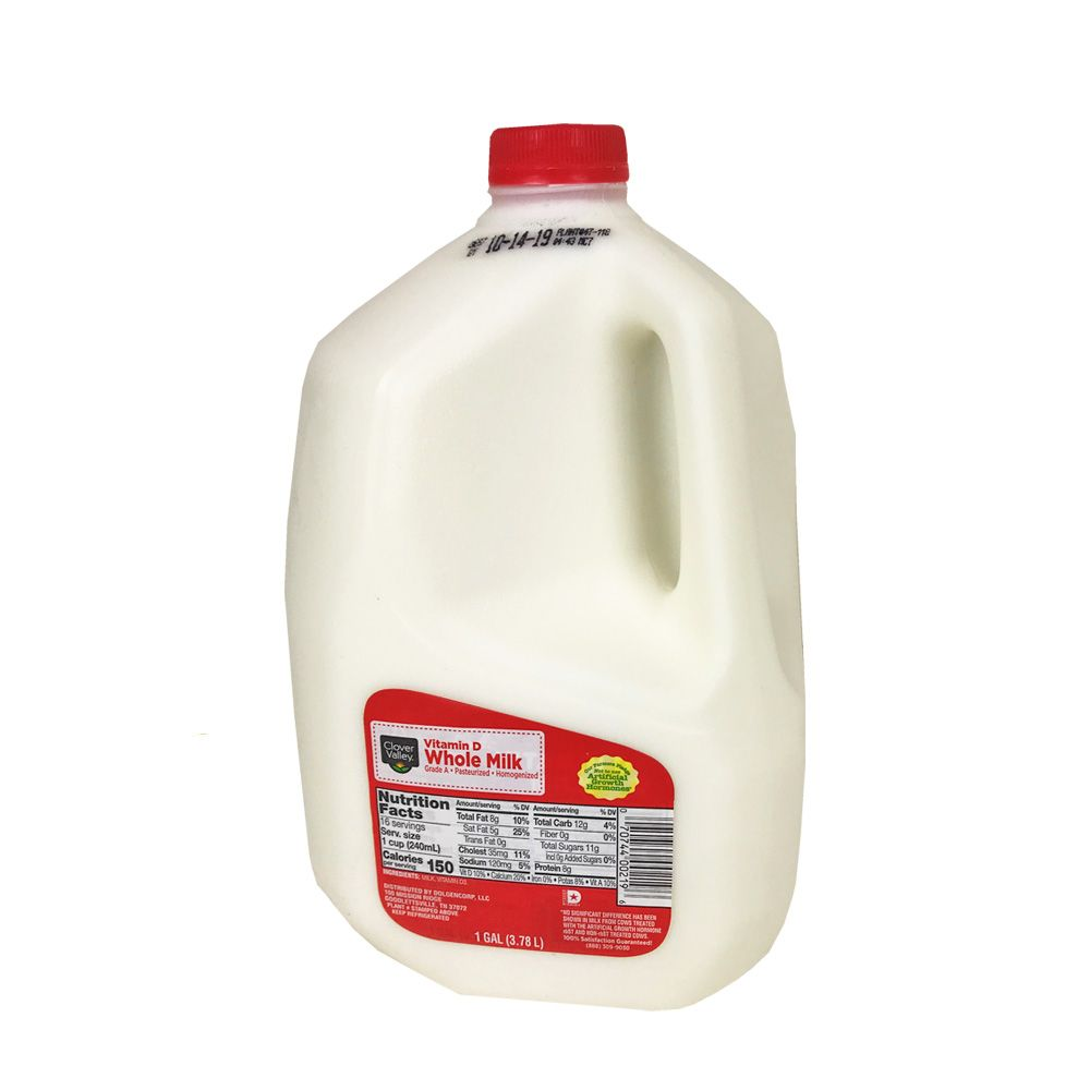 Clover Valley Whole Milk, Gallon