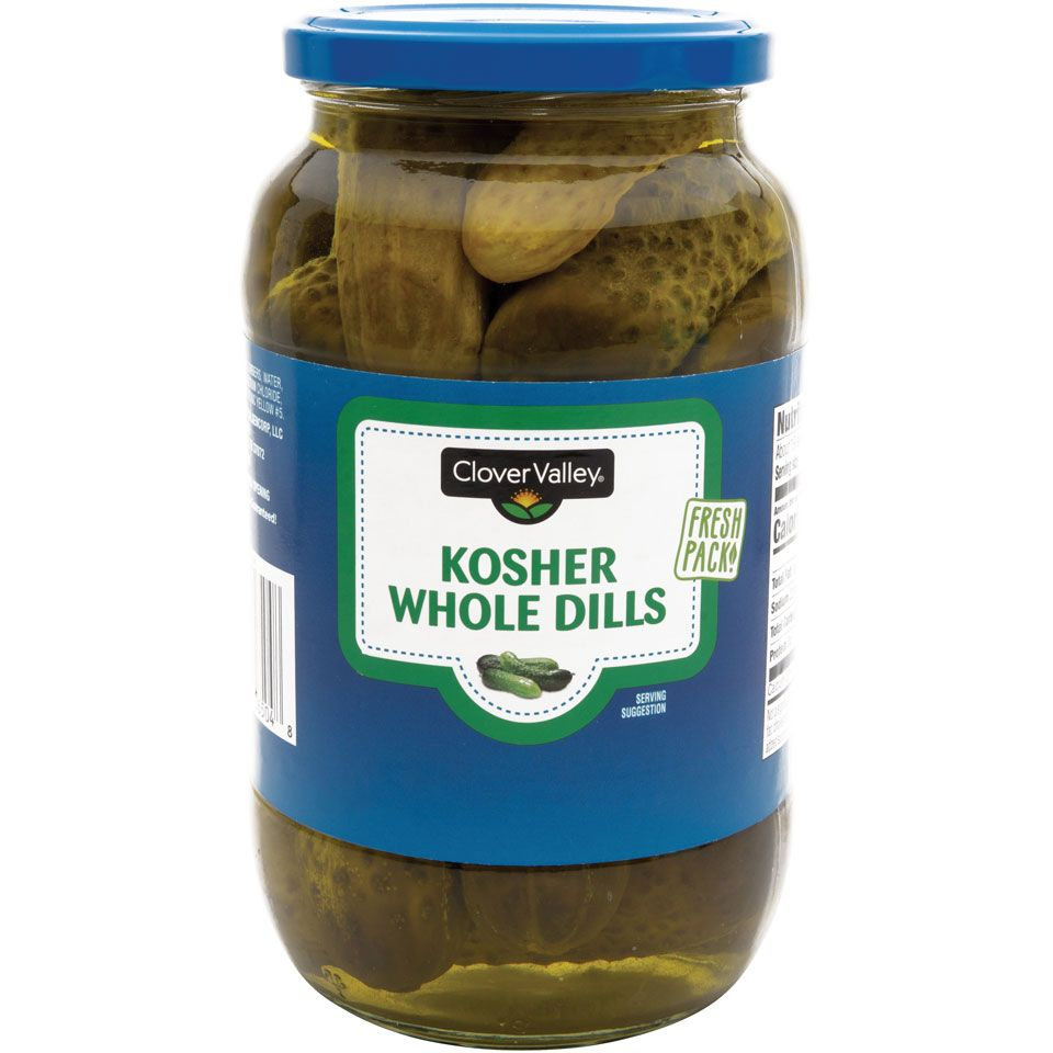 Clover Valley Kosher Whole Dills, 32 oz