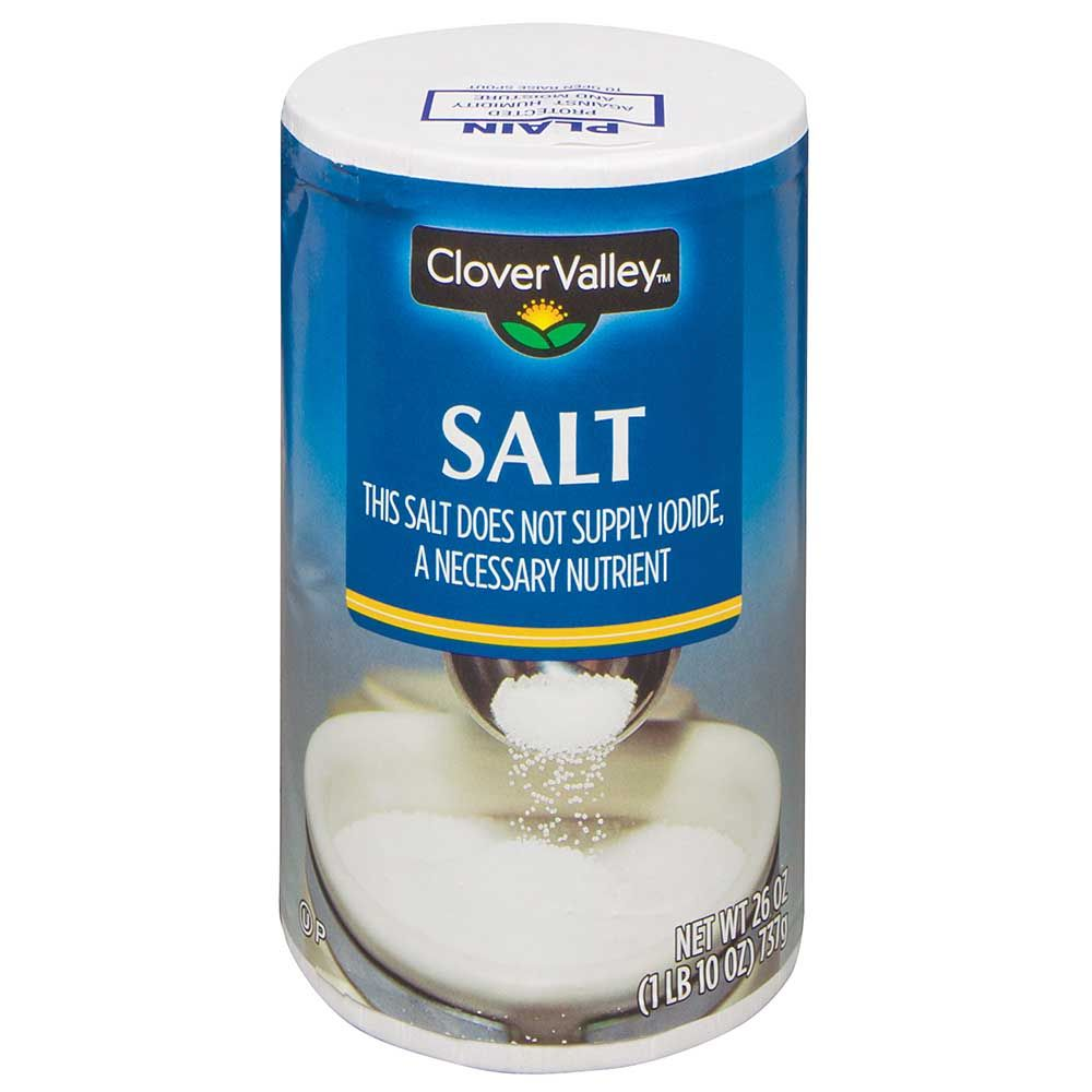 Clover Valley Plain Salt, 26 Oz.