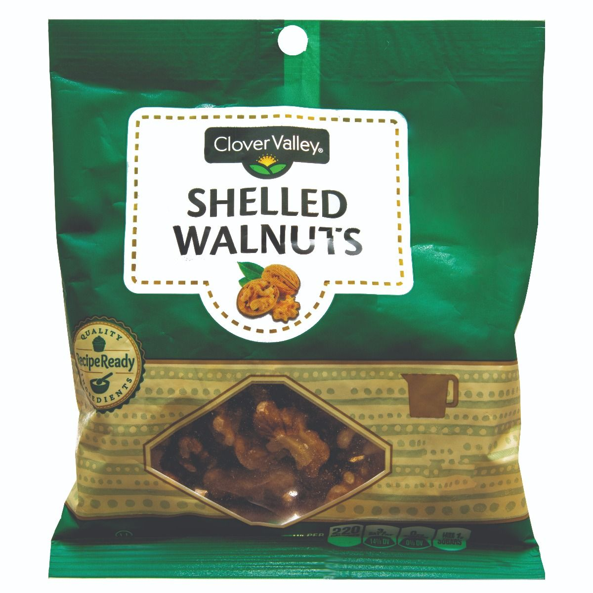 Clover Valley Shelled Walnuts, 4 oz