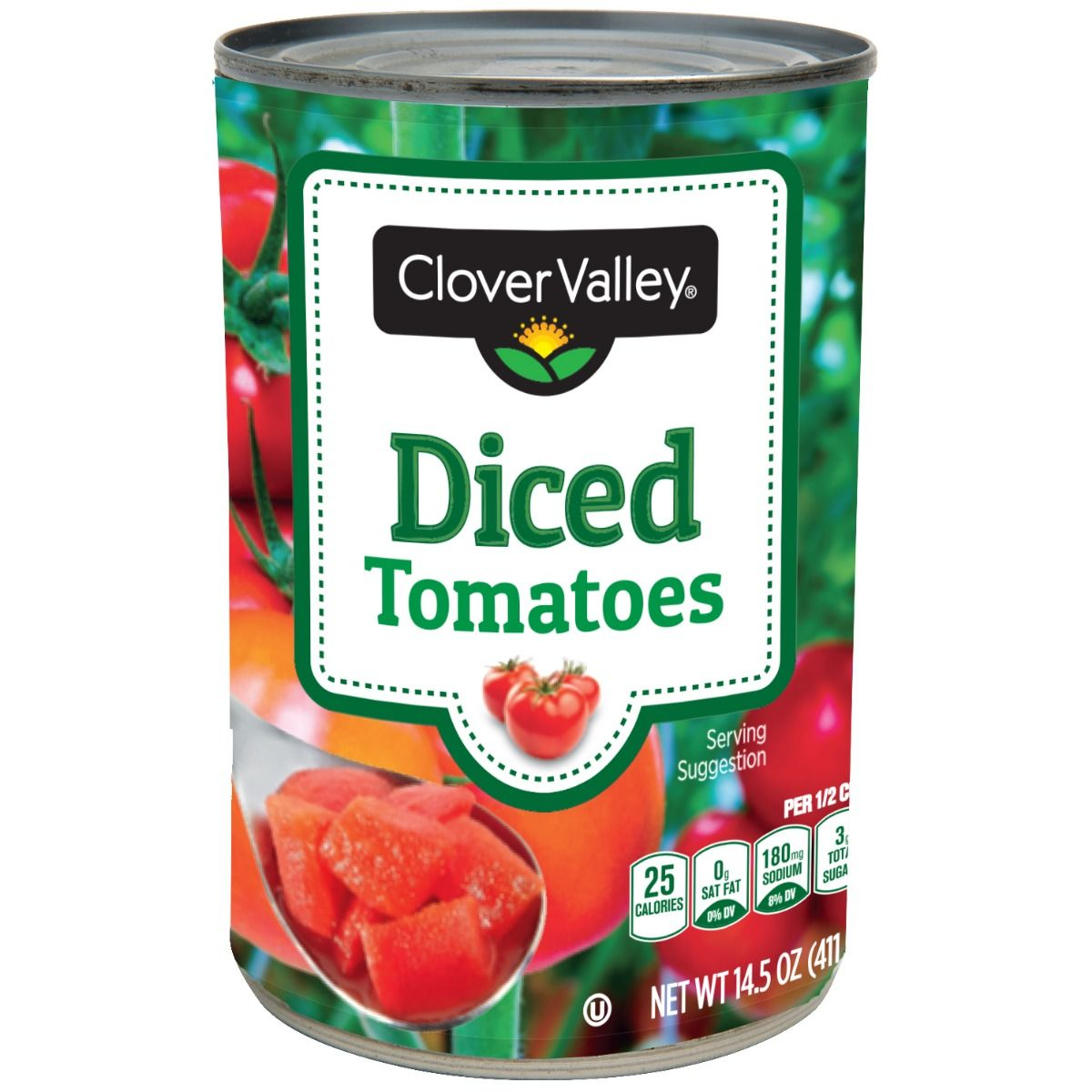 Clover Valley Diced Tomatoes, 14.5 Oz.