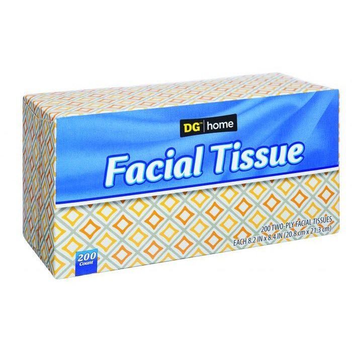 DG Home Facial Tissue, 200 Tissues