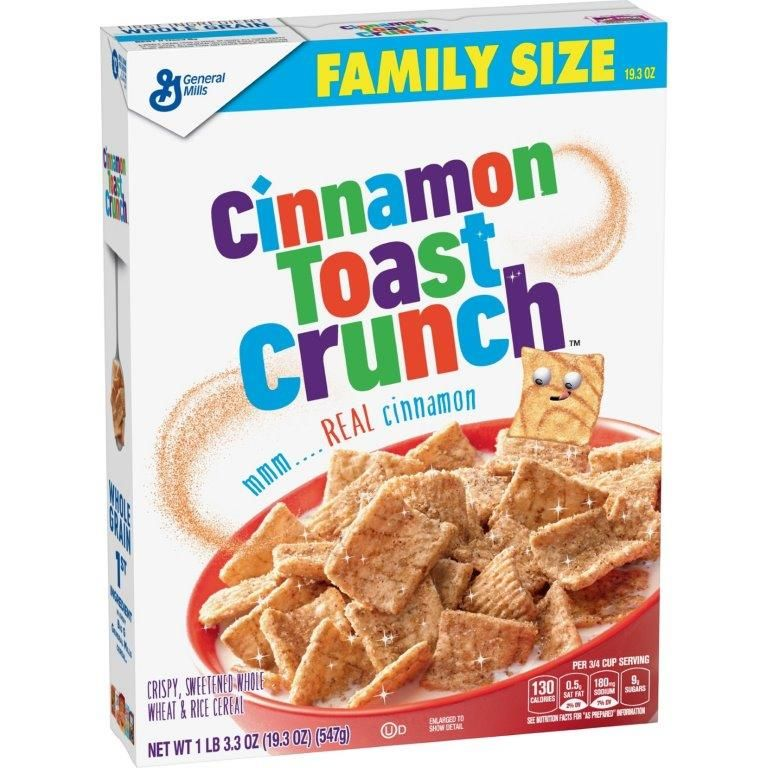 General Mills Cinnamon Toast Crunch Cereal, Family Size, 19.3 oz
