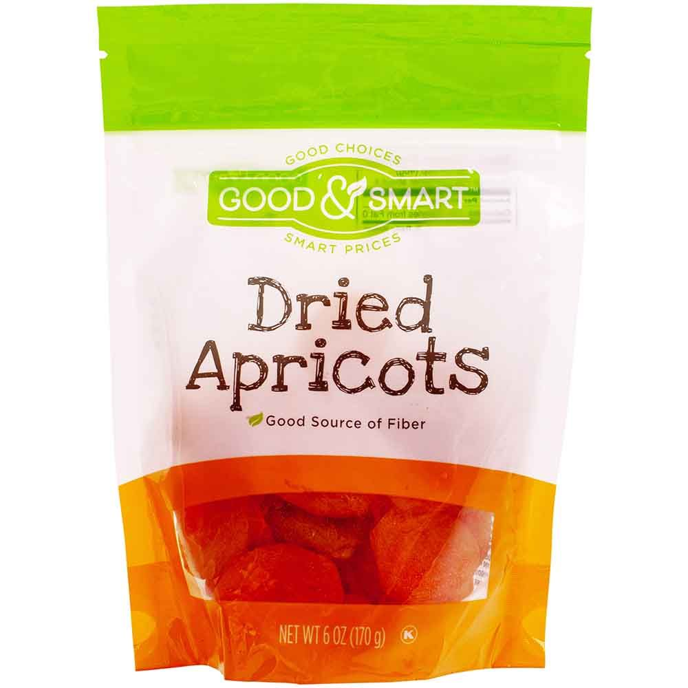 Good & Smart Dried Apricots, 6 Oz.