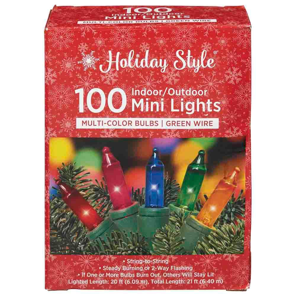 Holiday Style Multi-Color Mini Lights, 100ct
