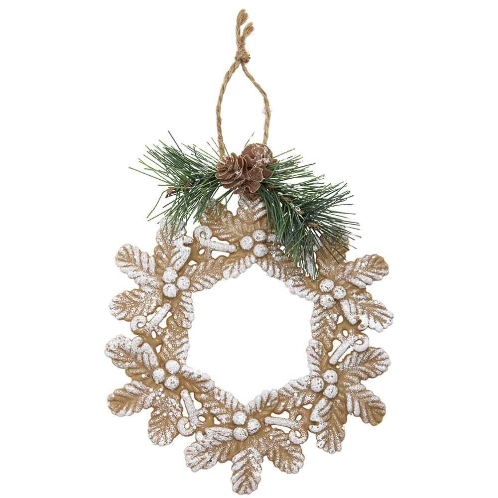 Frosted Wreath Christmas Ornament