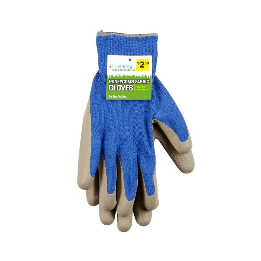 True Living Outdoors Honeycomb Fabric Gloves, 1 ct