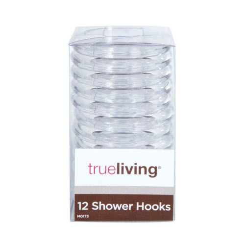 trueliving Shower Curtain Hooks - Clear